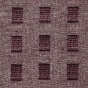 コットン×スクエア(ココア)×ボイルジャガード_全6色