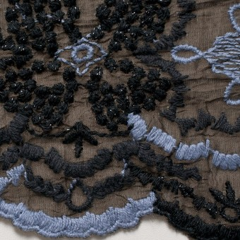 コットン×フラワー(ブラウン)×ボイル刺繍_全4色 サムネイル1
