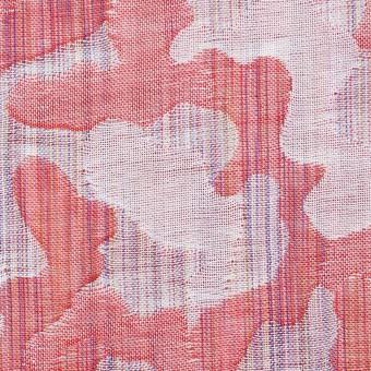 コットン×幾何学模様(レッド)×二重織ジャガード_全2色