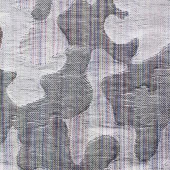 コットン×幾何学模様(グレー)×二重織ジャガード_全2色