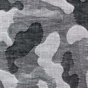 コットン×幾何学模様(ブラック&グレー)×二重織ジャガード