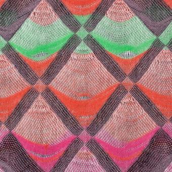 コットン×幾何学模様(レインボーミックス)×二重織ジャガード