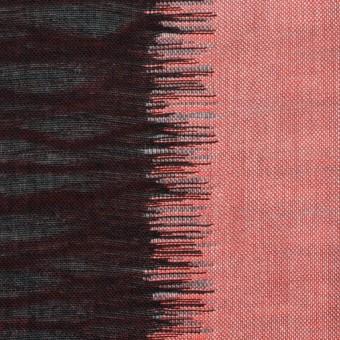 コットン×幾何学模様(レッド&ブラック)×二重織ジャガード