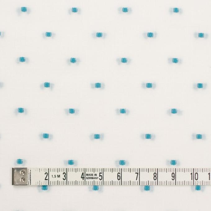 コットン×ドット(ターコイズ)×ボイルジャガード イメージ4