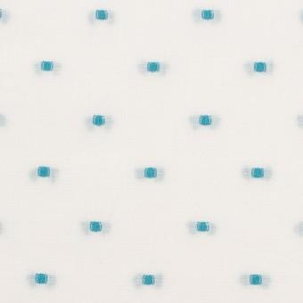 コットン×ドット(ターコイズ)×ボイルジャガード サムネイル1