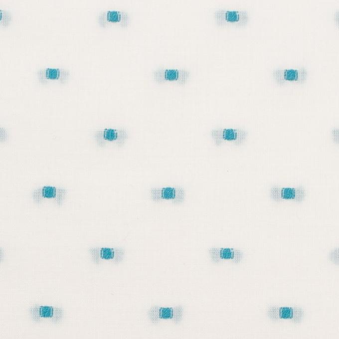 コットン×ドット(ターコイズ)×ボイルジャガード イメージ1