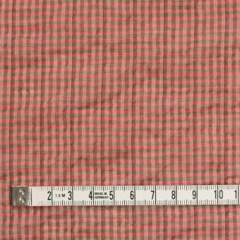 コットン&ポリウレタン×チェック(パーシモン&カーキ)×ボイルシャーリング_全3色 サムネイル4
