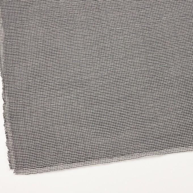 コットン&ポリウレタン×チェック(グレー&ブラック)×ボイルシャーリング_全3色 イメージ2