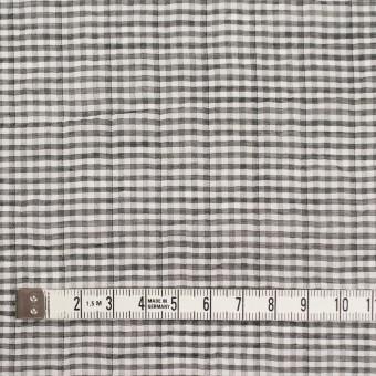 コットン&ポリウレタン×チェック(グレー&ブラック)×ボイルシャーリング_全3色 サムネイル4