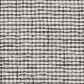 コットン&ポリウレタン×チェック(グレー&ブラック)×ボイルシャーリング_全3色 サムネイル1