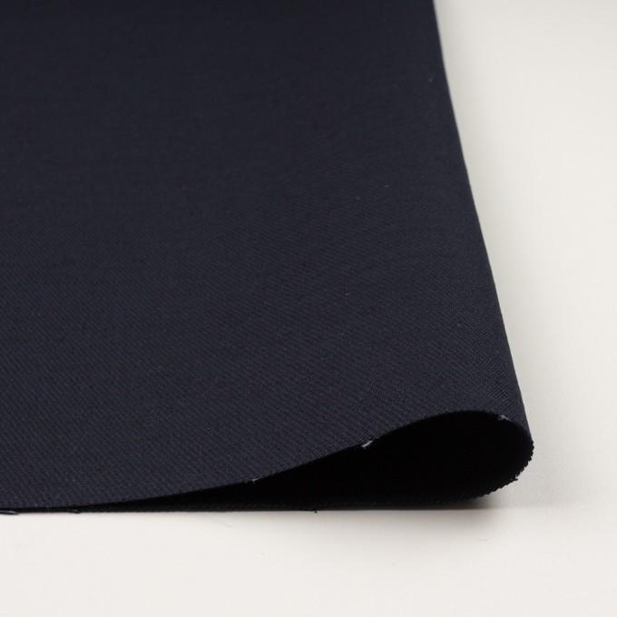 コットン&ジュート×無地(ダークネイビー)×厚サージ_全3色 イメージ3