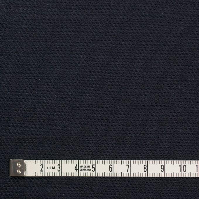 コットン&ジュート×無地(ダークネイビー)×厚サージ_全3色 イメージ4