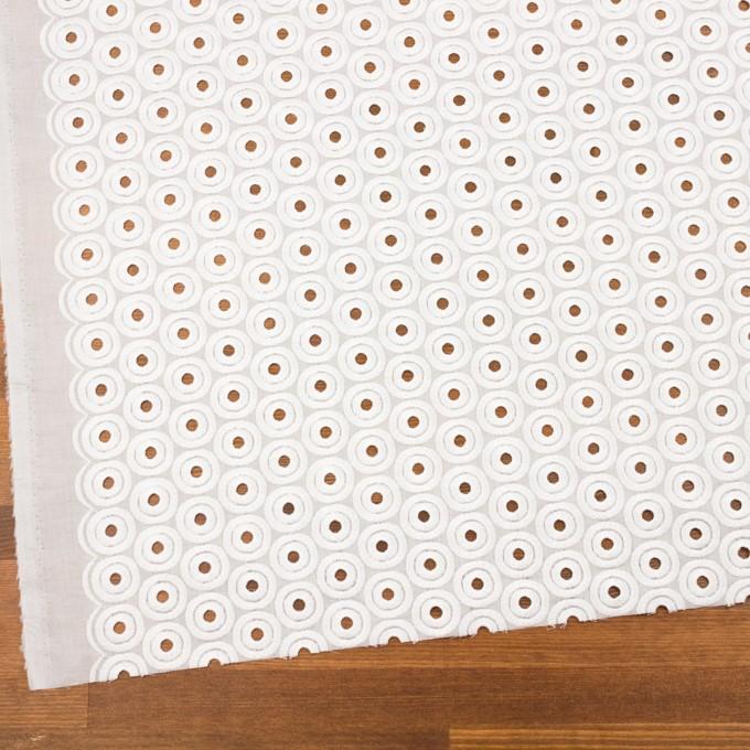 コットン×サークル(ホワイト)×ボイル刺繍 イメージ2