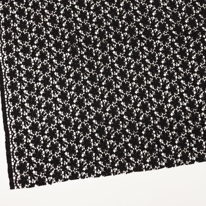 レーヨン×フラワー(ブラック)×ケミカルレース イメージ2