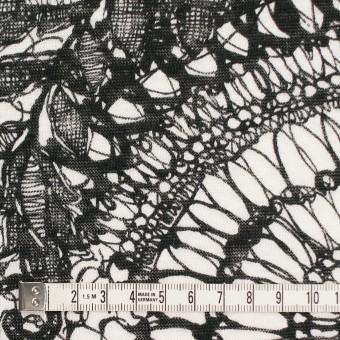 リネン×幾何学模様(ホワイト&ブラック)×天竺ニット_全2色 サムネイル4