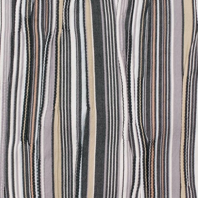 コットン&ナイロン混×ストライプ(マルチ)×タテタック イメージ1