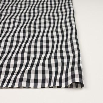 コットン&ナイロン混×チェック(ブラック)×タテタック サムネイル3