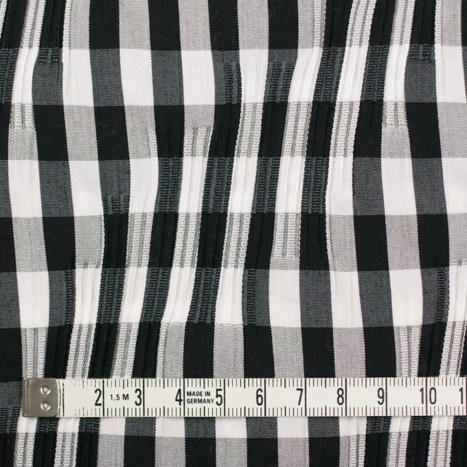 コットン&ナイロン混×チェック(ブラック)×タテタック イメージ4