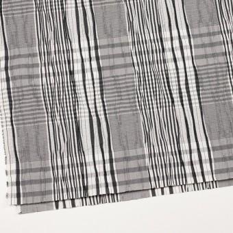 コットン&ナイロン混×チェック(ブラック)×タテタック サムネイル2