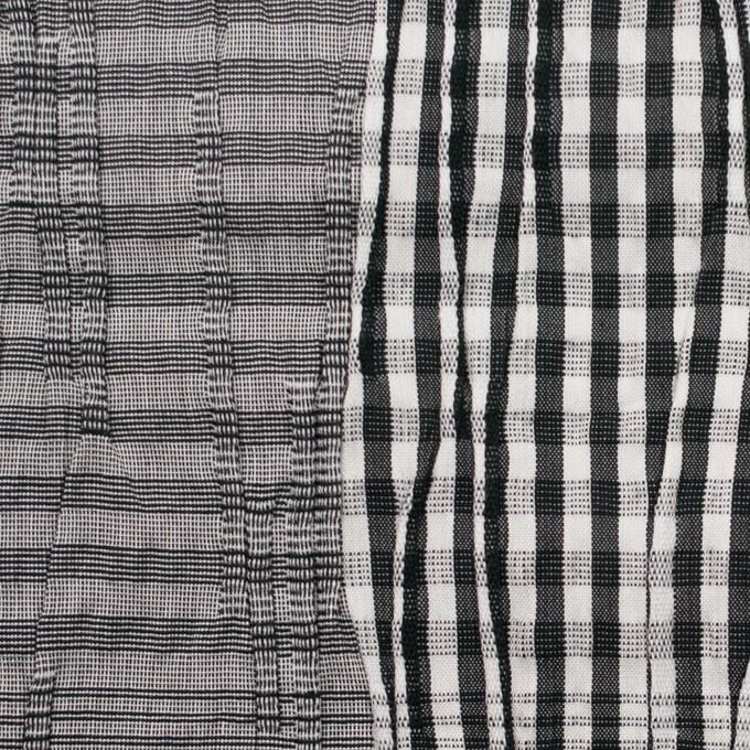 コットン&ナイロン混×チェック(ブラック)×タテタック イメージ1