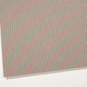 コットン&ポリウレタン×ストライプ(レッド&グリーン)×かわり織 サムネイル2