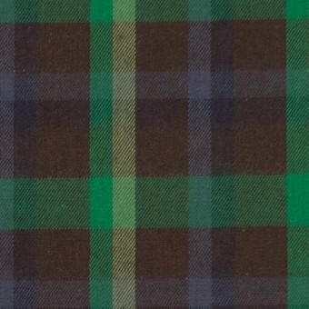 コットン×チェック(ブラウン&グリーン)×ビエラ サムネイル1