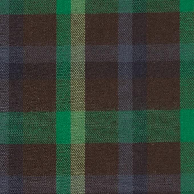 コットン×チェック(ブラウン&グリーン)×ビエラ イメージ1