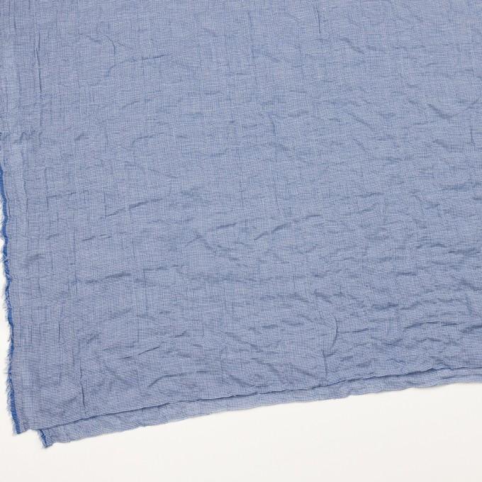 コットン&ポリウレタン×チェック(ブルー)×千鳥格子シャーリング_全2色 イメージ2