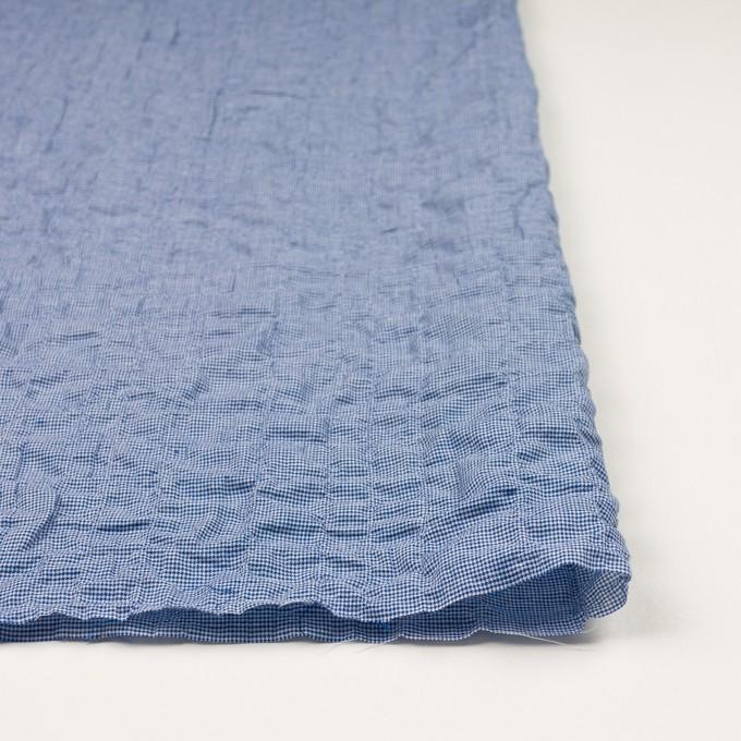 コットン&ポリウレタン×チェック(ブルー)×千鳥格子シャーリング_全2色 イメージ3