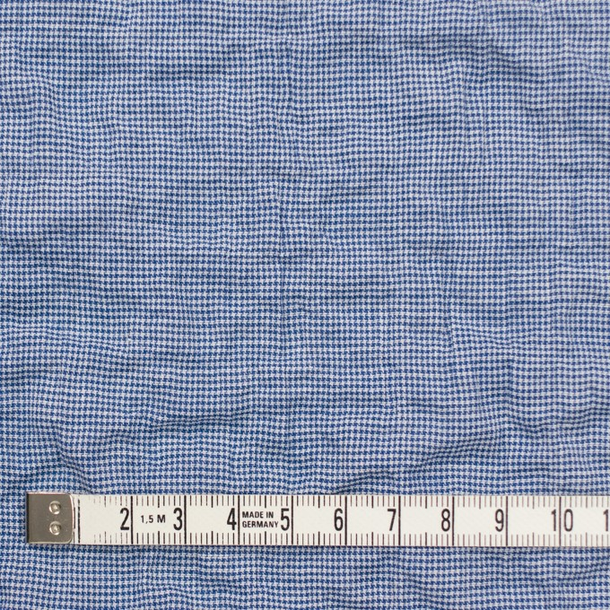 コットン&ポリウレタン×チェック(ブルー)×千鳥格子シャーリング_全2色 イメージ4
