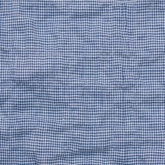 コットン&ポリウレタン×チェック(ブルー)×千鳥格子シャーリング_全2色 サムネイル1