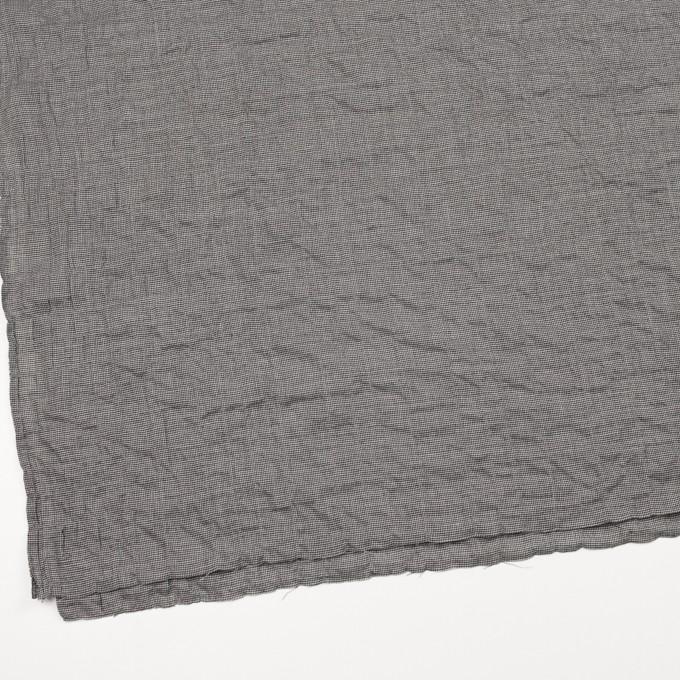 コットン&ポリウレタン×チェック(ブラック)×千鳥格子シャーリング_全2色 イメージ2