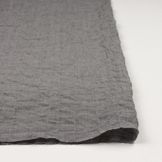 コットン&ポリウレタン×チェック(ブラック)×千鳥格子シャーリング_全2色 イメージ3