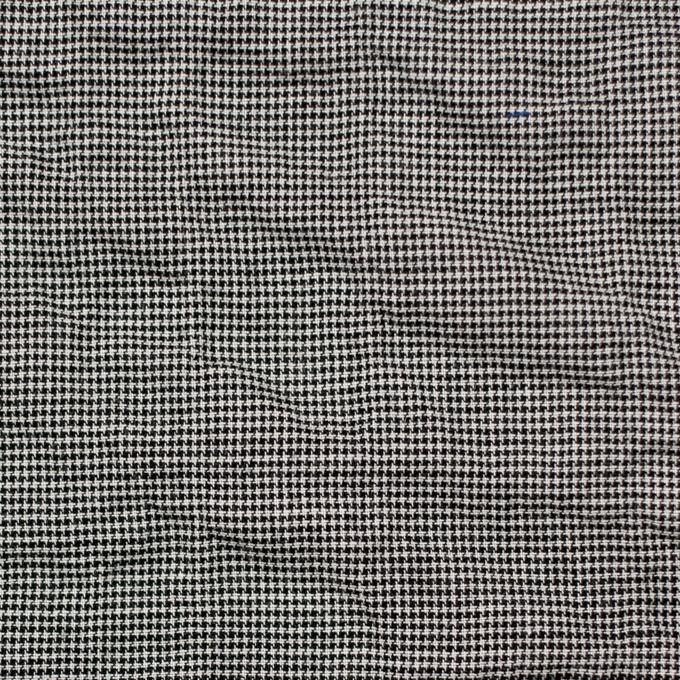 コットン&ポリウレタン×チェック(ブラック)×千鳥格子シャーリング_全2色 イメージ1