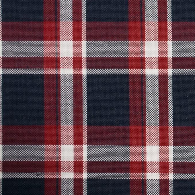 コットン×チェック(トリコロール)×オックスフォード イメージ1