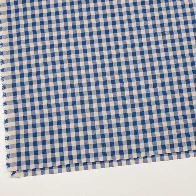 コットン×チェック(キナリ&インディゴブルー)×シーチング_全3色 イメージ2