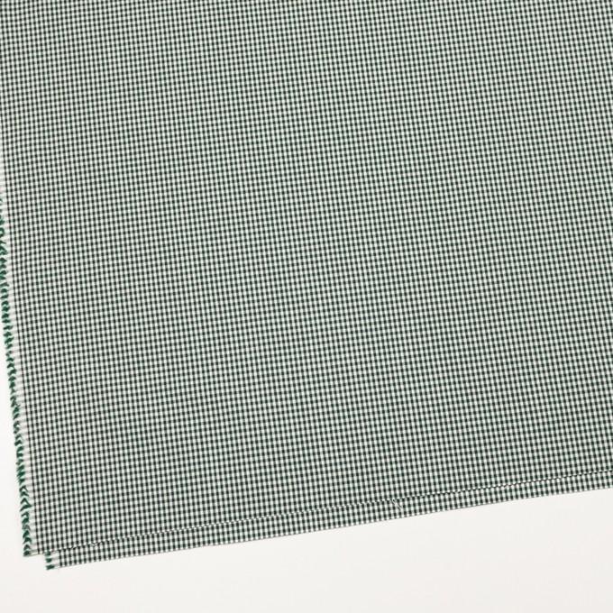 コットン&ポリウレタン×チェック(グリーン)×ポプリンストレッチ_全3色 イメージ2