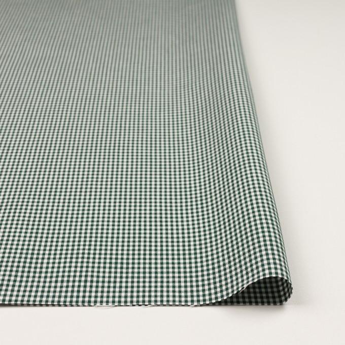 コットン&ポリウレタン×チェック(グリーン)×ポプリンストレッチ_全3色 イメージ3