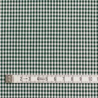 コットン&ポリウレタン×チェック(グリーン)×ポプリンストレッチ_全3色 サムネイル4