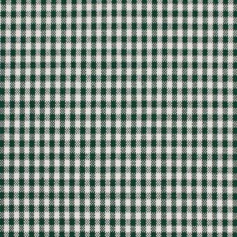 コットン&ポリウレタン×チェック(グリーン)×ポプリンストレッチ_全3色