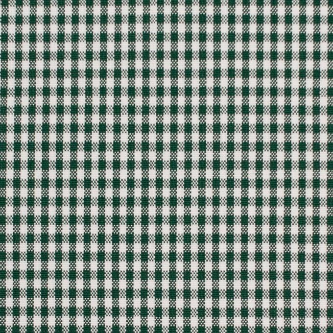 コットン&ポリウレタン×チェック(グリーン)×ポプリンストレッチ_全3色 イメージ1