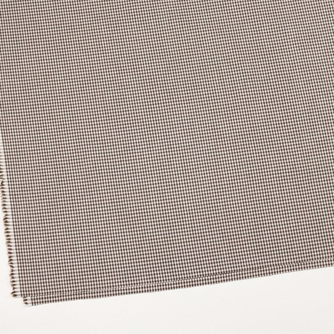 コットン&ポリウレタン×チェック(ブラウン)×ポプリンストレッチ_全3色 イメージ2