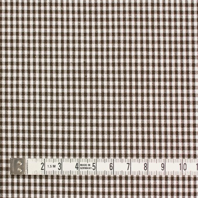 コットン&ポリウレタン×チェック(ブラウン)×ポプリンストレッチ_全3色 イメージ4