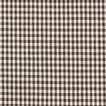 コットン&ポリウレタン×チェック(ブラウン)×ポプリンストレッチ_全3色