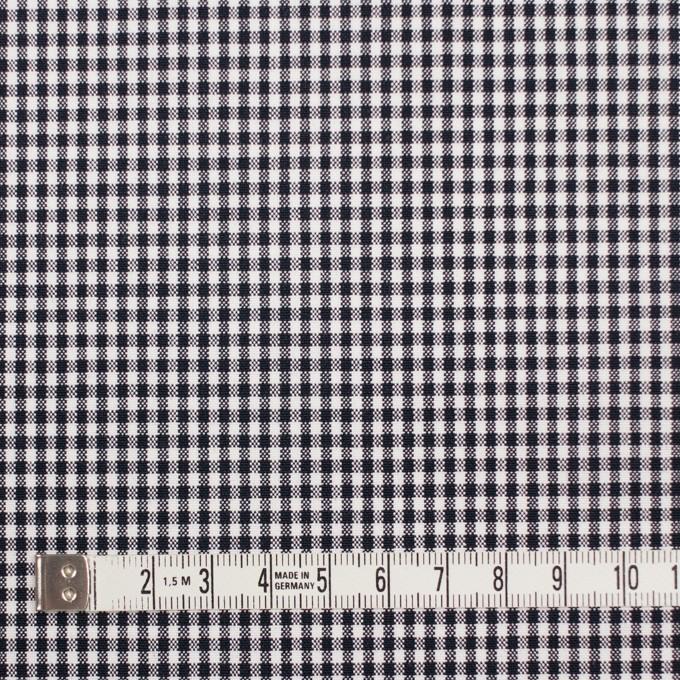 コットン&ポリウレタン×チェック(ダークネイビー)×ポプリンストレッチ_全3色 イメージ4