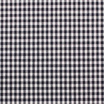 コットン&ポリウレタン×チェック(ダークネイビー)×ポプリンストレッチ_全3色 サムネイル1
