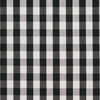 コットン&ナイロン混×チェック(ブラック)×ブロードストレッチ