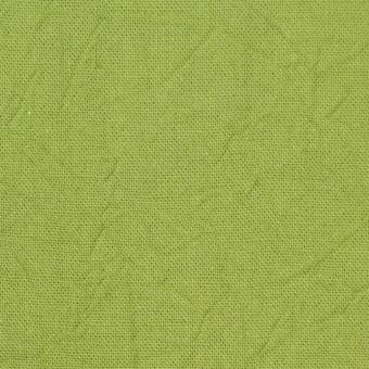 コットン&リネン×無地(ライム)×キャンバスワッシャー_全15色