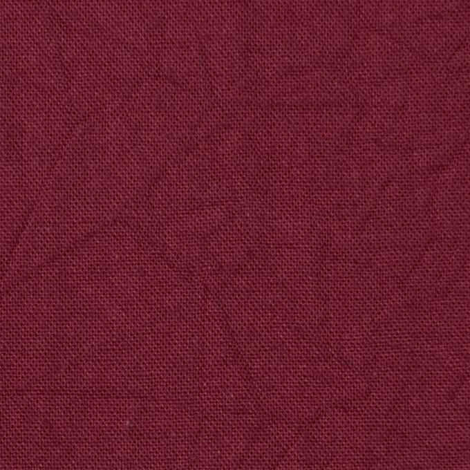 コットン&リネン×無地(ガーネット)×キャンバスワッシャー_全15色 イメージ1