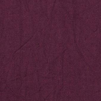 コットン&リネン×無地(プラムパープル)×キャンバスワッシャー_全15色